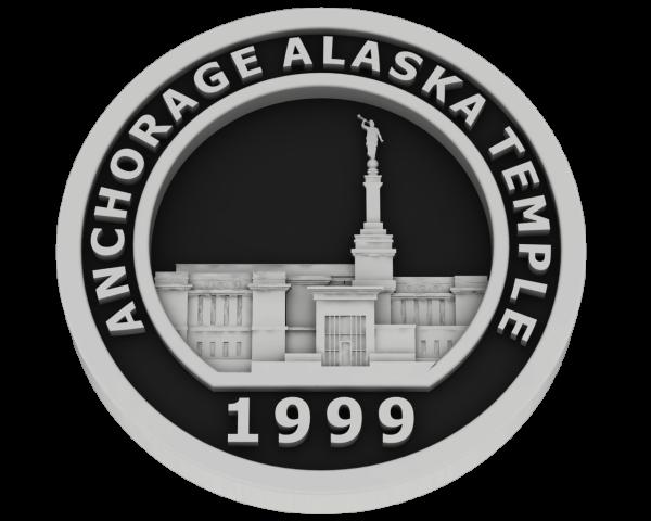 Anchorage, Alaska Temple - Silver