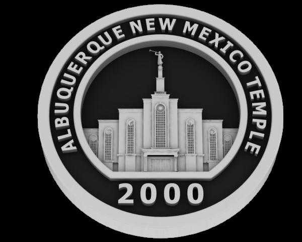 Albuquerque, New Mexico Temple - Silver