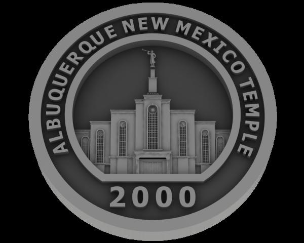 Albuquerque, NM Temple - Pewter