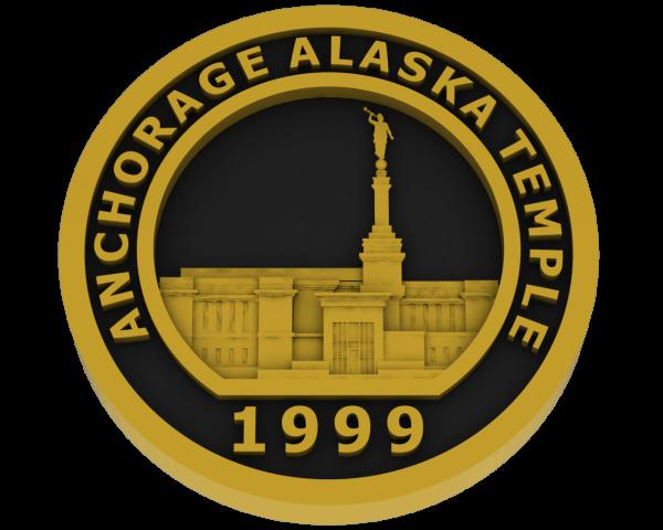 Anchorage, Alaska Temple - Brass