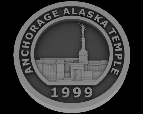 Anchorage, Alaska Temple - Pewter