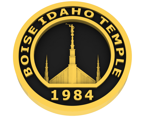 Boise, Idaho Temple in Gold