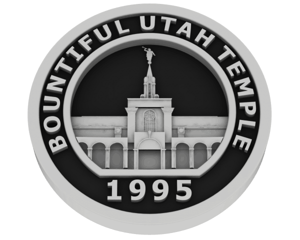 Bountiful, Utah Temple in Silver