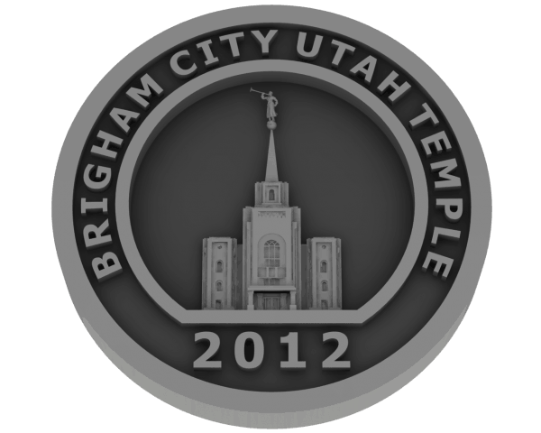 Brigham City, Utah Temple - Pewter