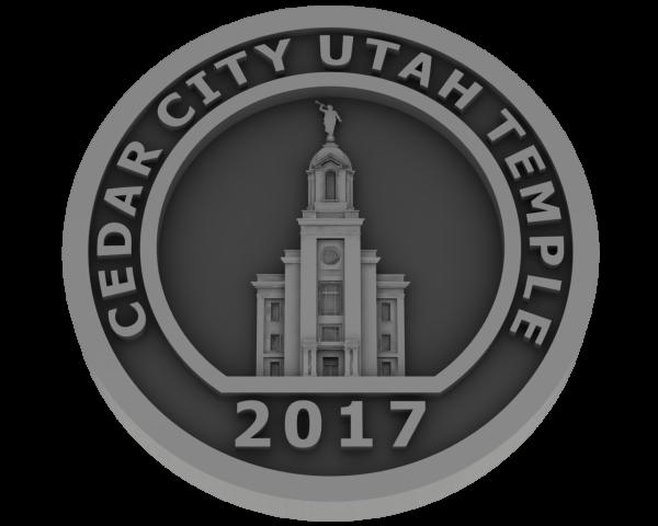 Cedar City, Utah Temple - Pewter