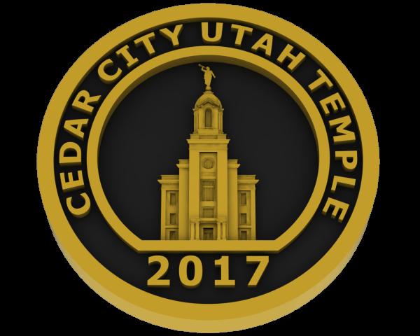 Cedar City, Utah Temple - Brass
