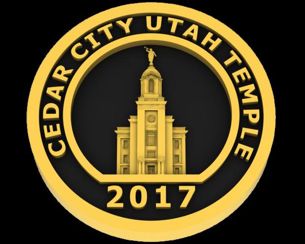 Cedar City, Utah Temple - Gold