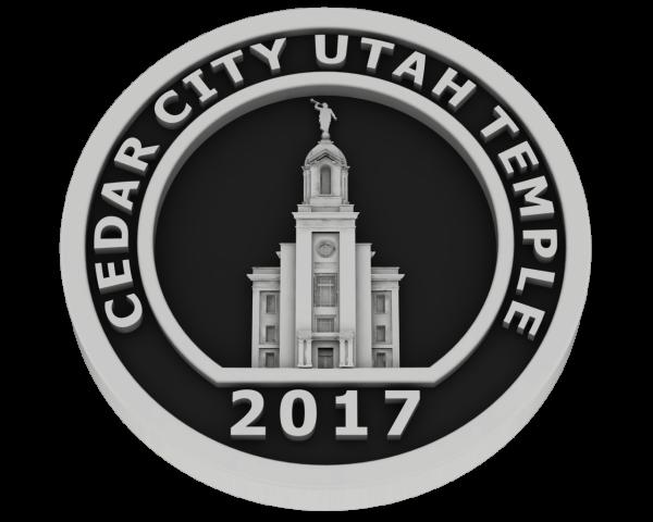 Cedar City, Utah Temple - Silver