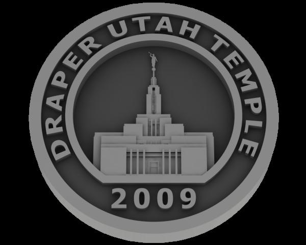Draper, Utah Temple - Pewter