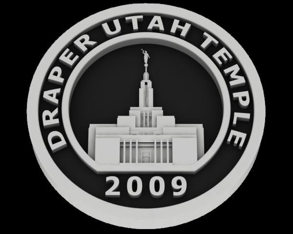 Draper, Utah Temple - Silver