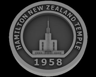 Hamilton, New Zealand Temple - Pewter