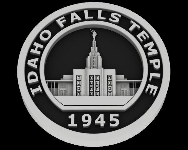Idaho Falls, Idaho Temple - Silver