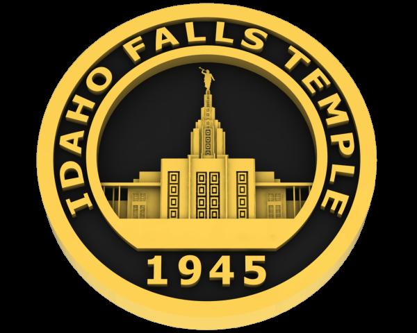 Idaho Falls, Idaho Temple - Gold