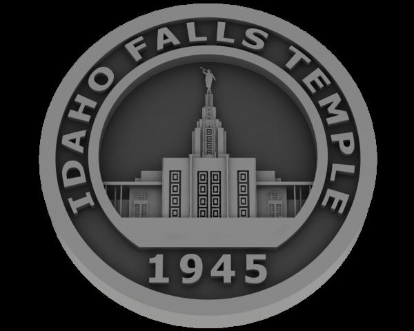 Idaho Falls, Idaho Temple - Pewter