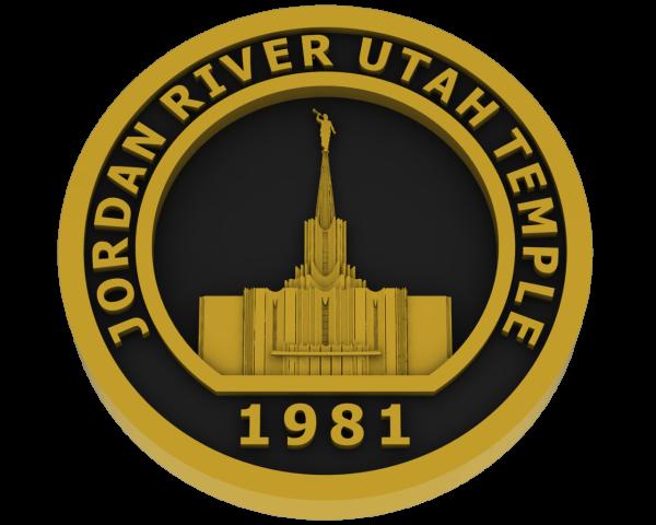 Jordan River, Utah Temple - Brass