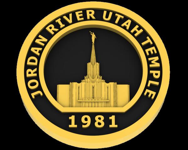 Jordan River, Utah Temple - Gold