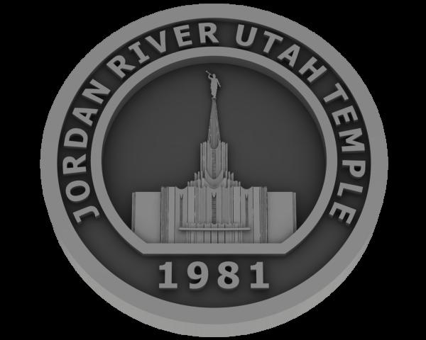 Jordan River, Utah Temple - Pewter