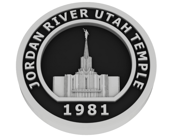 Jordan River, Utah Temple - Silver