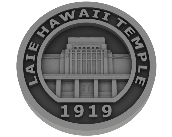 Laie Hawaii Temple - Pewter
