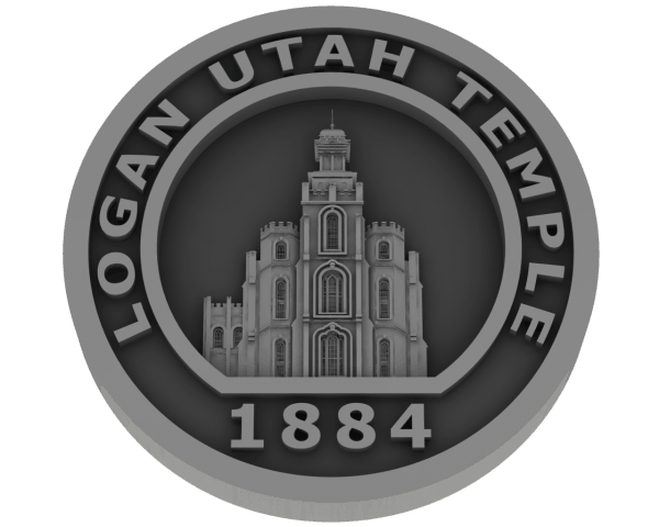 Logan Temple Coin - Pewter