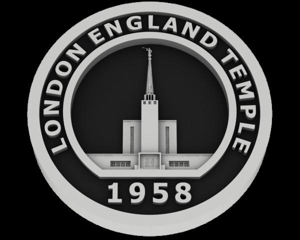London, England Temple - Silver