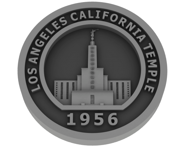 Los Angeles, California Temple - Pewter