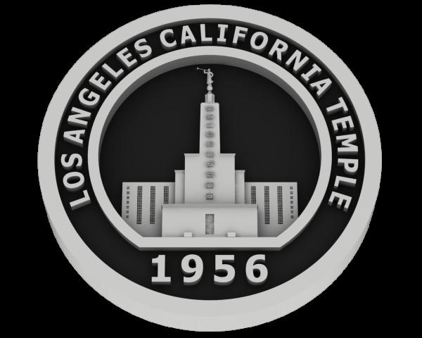 Los Angeles, California Temple - Silver