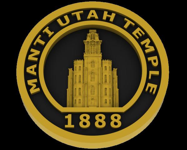 Manti Utah Temple - Brass