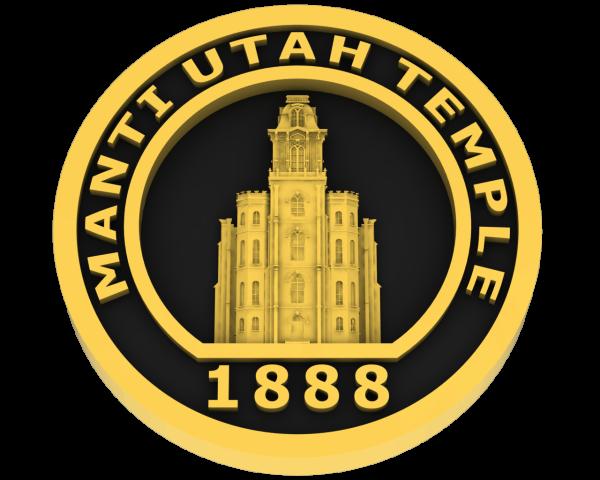 Manti Utah Temple - Gold