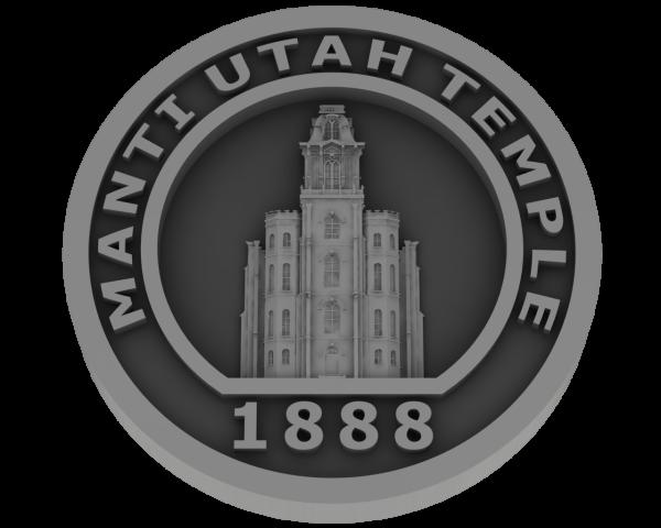 Manti Utah Temple - Pewter