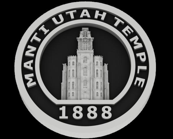 Manti Utah Temple - Silver