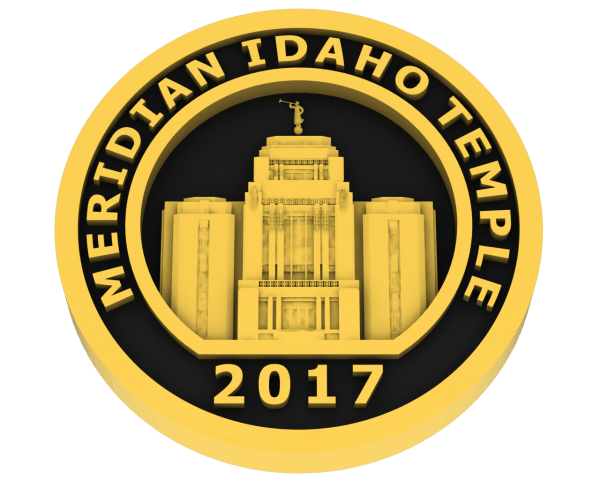 Meridian, Idaho Temple - Gold