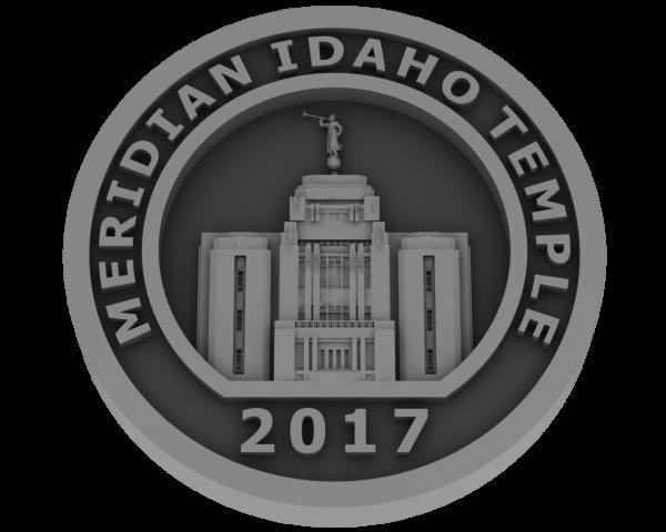 Meridian, Idaho Temple - Pewter