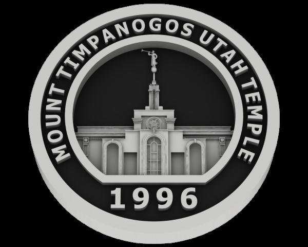 Mt Timpanogos, Utah Temple - Silver