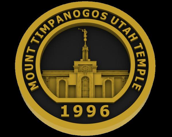 Mt Timpanogos, Utah Temple - Brass