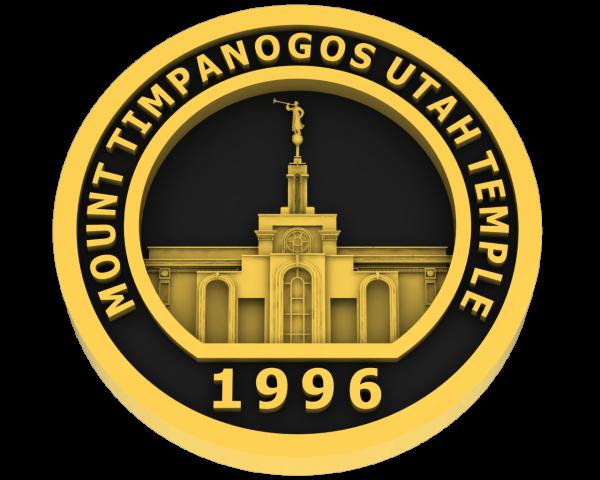 Mt Timpanogos, Utah Temple - Gold