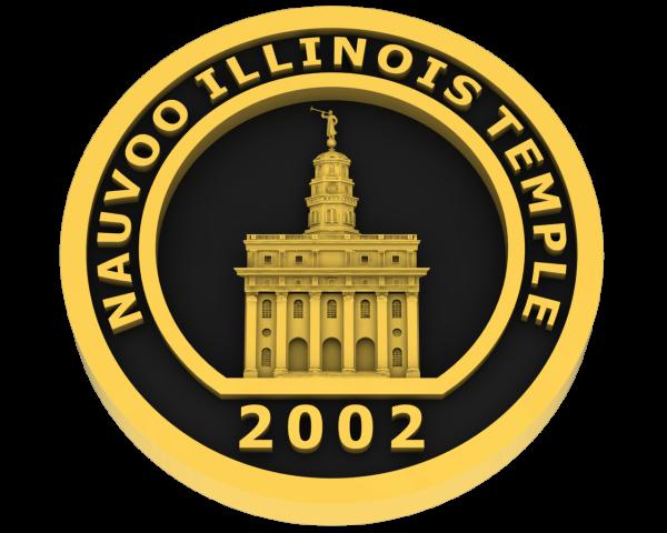 Nauvoo Illinois Temple - Gold
