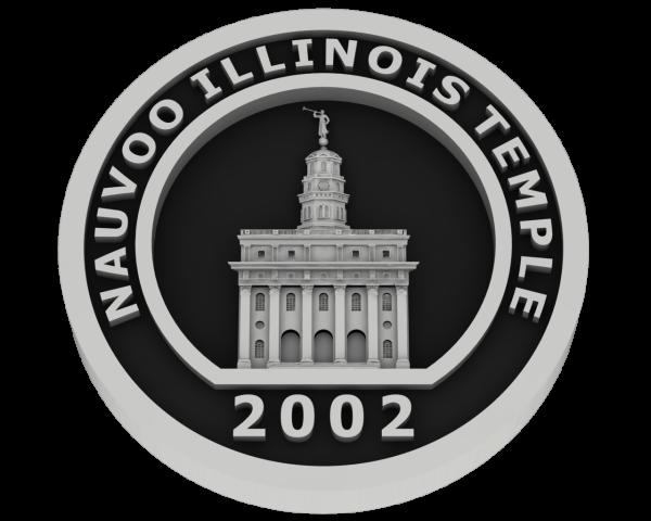 Nauvoo Illinois Temple - Silver