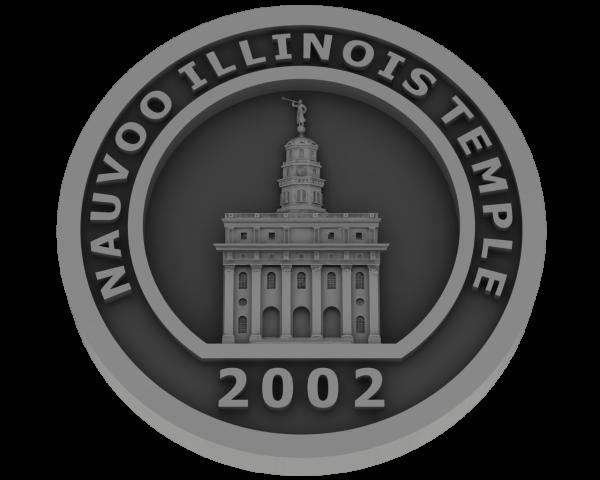 Nauvoo Illinois Temple - Pewter