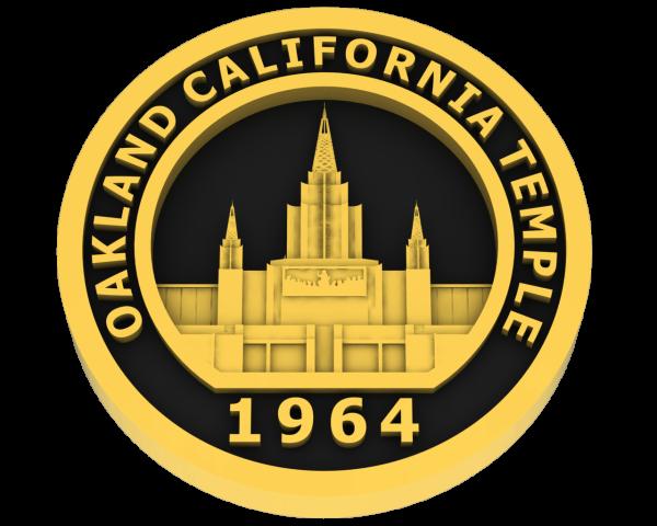 Oakland, California Temple - Gold