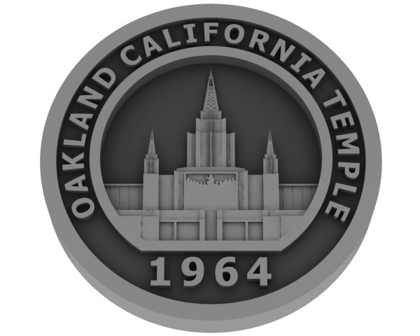 Oakland, California Temple - Pewter