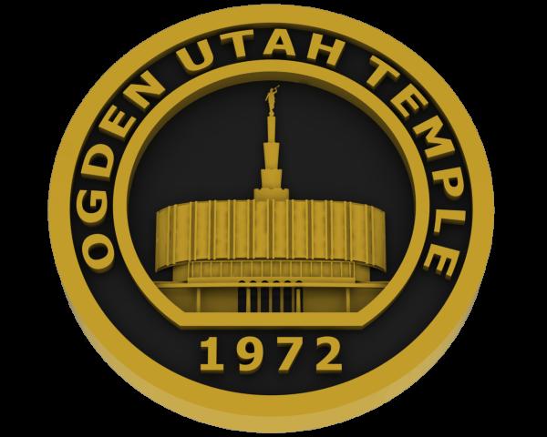 Ogden Temple - Old, Utah Temple - Brass
