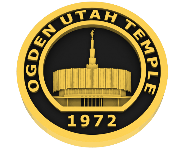 Ogden Temple - Old, Utah Temple - Gold
