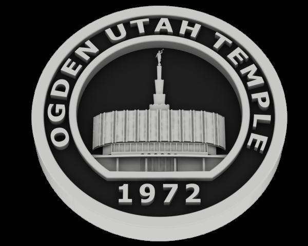 Ogden Temple - Old, Utah Temple - Silver