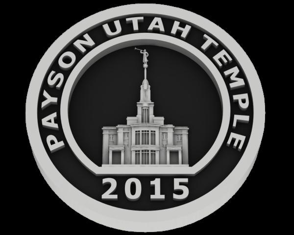 Payson, Utah Temple - Silver