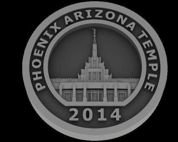 Phoenix Arizona, Temple - Pewter