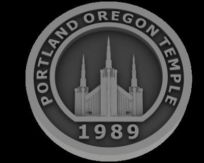 Portland, Oregon Temple - Pewter