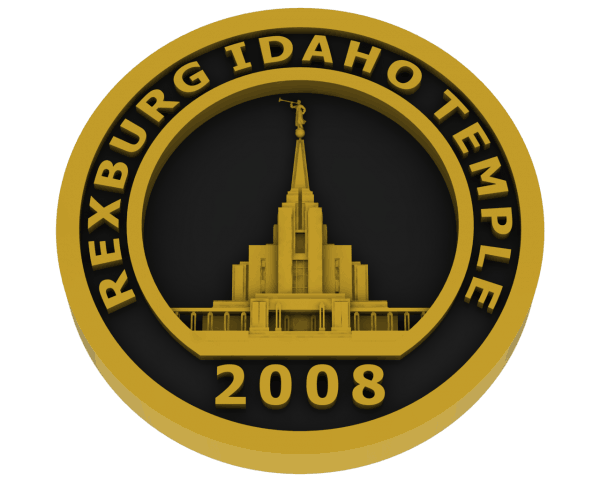 Rexburg, Idaho Temple - Brass