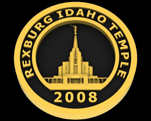 Rexburg, Idaho Temple - Gold