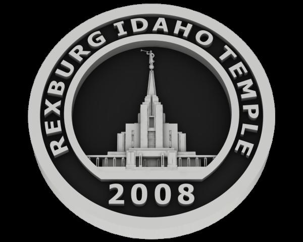 Rexburg, Idaho Temple - Silver